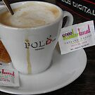 Coffee Break at a Cafe in Straubing, Germany by April-in-Texas