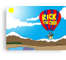 Rick the chick & Friends - JOURNEY IN A BALLOON Canvas Print