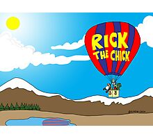 Rick the chick & Friends - JOURNEY IN A BALLOON Photographic Print