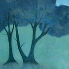 Twilight Trees - Silhouette by Jude Allman