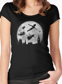 Full Moon over London Women's Fitted Scoop T-Shirt
