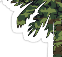 Green Camouflage Palmetto Moon Sticker