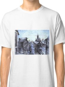 Wooden town on the chilly lake Classic T-Shirt