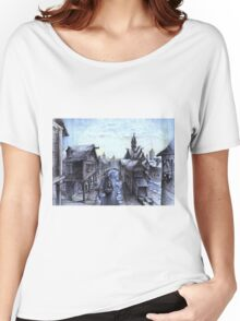 Wooden town on the chilly lake Women's Relaxed Fit T-Shirt