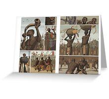 nubian wrestlers Greeting Card