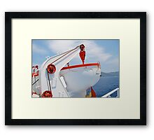 Greek ferry lifeboat, Skiathos Framed Print