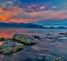Karamea sunset panorama by Peter Luxem