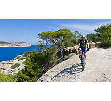 Mountain biker in Mallorca Photographic Print