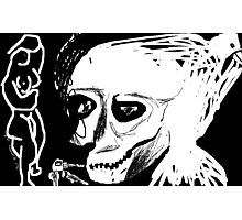nude/keys/skull/bird -(230611)- digital artwork/ms paint Photographic Print