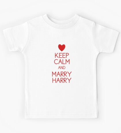 Keep Calm and Marry Harry Kids Clothes
