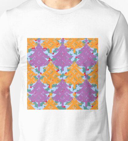 Christmas Holly Tree Unisex T-Shirt