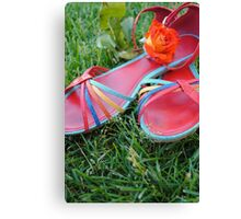 And Then My Shoes Canvas Print