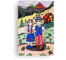 Peter and Heidies Alm Canvas Print