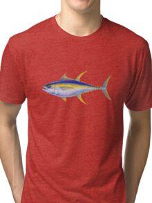 Yellowfin Tuna (Thunnus albacares) Tri-blend T-Shirt