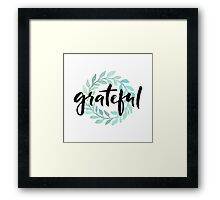 Grateful Framed Print