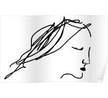 female head/angel -(230611)- digital artwork/ms paint Poster