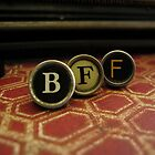 Best Friend Forever - BFF- Red by Patricia Phillips