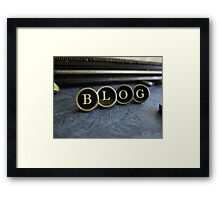 Blog - Blue Framed Print