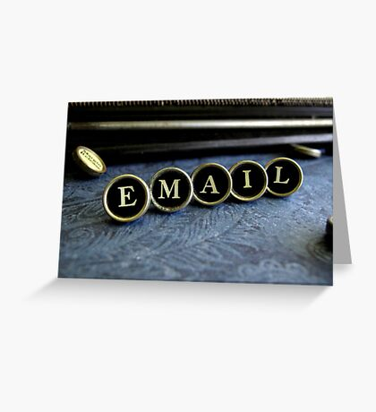 Email - Blue Greeting Card