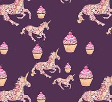 Kawaii Unicorns and Cupcakes by Cartoonistlg