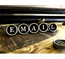 Email - Brown Photographic Print