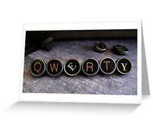 QWERTY - Keyboard - Purple Greeting Card