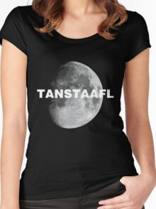 TANSTAAFL & Moon Women's Fitted Scoop T-Shirt