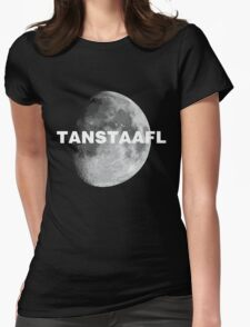 TANSTAAFL & Moon Womens Fitted T-Shirt