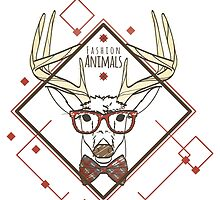 Fashion animals Deer by MrNicekat