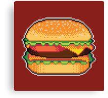 Pixel Burger Canvas Print