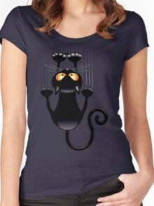 Clings cat Women's Fitted Scoop T-Shirt