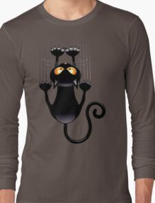 Clings cat Long Sleeve T-Shirt