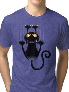 Clings cat Tri-blend T-Shirt