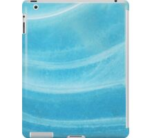 Blue Wave Ice Abstract iPad Case/Skin