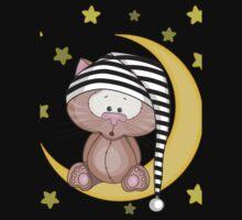 Cat moon dream Kids Tee