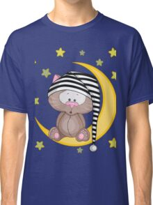 Cat moon dream Classic T-Shirt