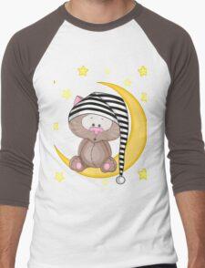 Cat moon dream Men's Baseball ¾ T-Shirt