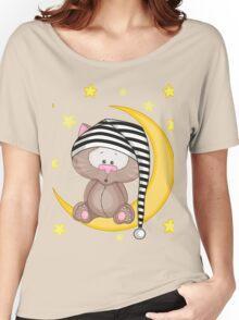 Cat moon dream Women's Relaxed Fit T-Shirt