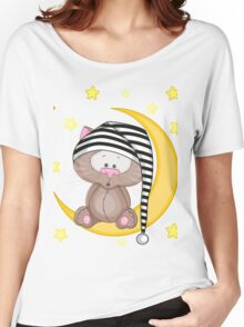 Cat moon dream Women's Relaxed Fit T-Shirt