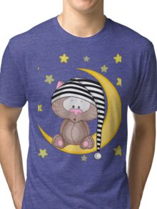 Cat moon dream Tri-blend T-Shirt