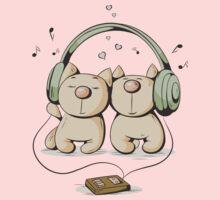Cats & music Kids Tee