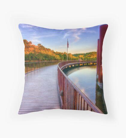 Branson Landing Boardwalk Throw Pillow