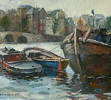 Amsterdam. Boats. by Guennadi Kalinine
