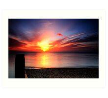 Red sky in morning, sailors warning. Art Print