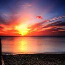 Red sky in morning, sailors warning. by David  Howarth