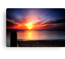 Red sky in morning, sailors warning. Canvas Print