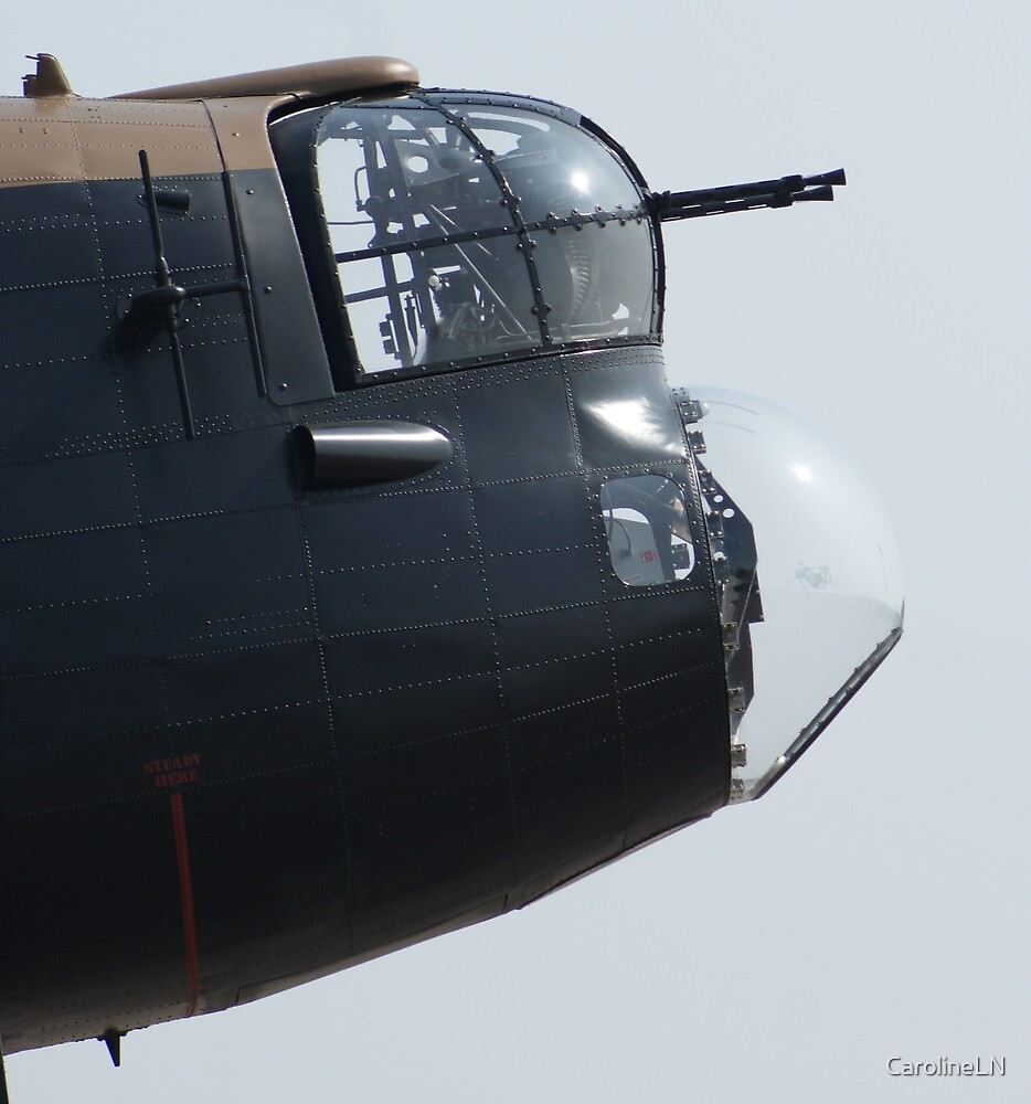 Lancaster Bomb Aimer Blister and Front Turret by CarolineLN