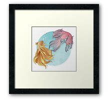 Siamese fighting fishes Framed Print