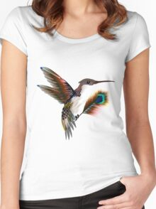 colibri & feather Women's Fitted Scoop T-Shirt