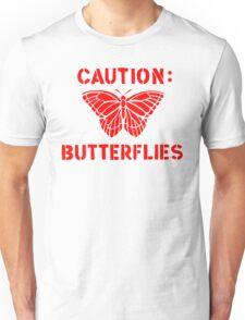 Caution: Butterflies Unisex T-Shirt